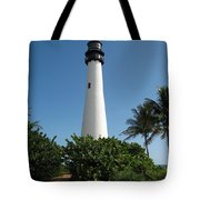 Lighthouse On Key Biscayne Tote Bag
