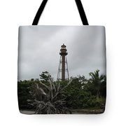 Lighthouse On Sanibel Island Tote Bag