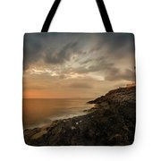 Lighthouse On The Coast, Ardnamurchan Tote Bag