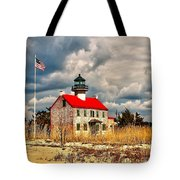Lighthouse On The Delaware Tote Bag