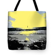 Lighthouse On The Horizon Tote Bag