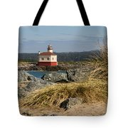 Lighthouse Over The Dunes Tote Bag