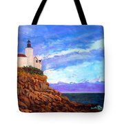 Lighthouse Overlook Tote Bag