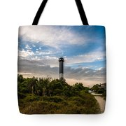 Lighthouse Pathway Tote Bag