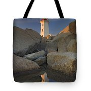 Lighthouse, Peggys Cove, Nova Scotia Tote Bag