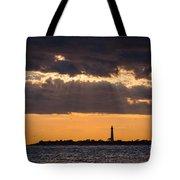 Lighthouse Sun Rays Tote Bag