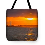 Lighthouse Sun Reflections Tote Bag