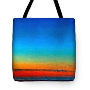 Lighthouse Sunrise Tote Bag by Julis Simo