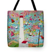 Cape May Point Lighthouse Magic Tote Bag