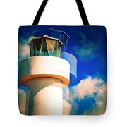 Lighthouse To The Clouds Tote Bag