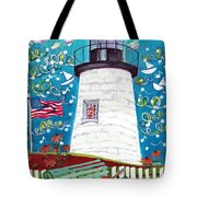 Lighthouse With Music Tote Bag