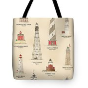 Lighthouses Of The East Coast Tote Bag