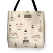 Lighthouses Of The Great Lakes Tote Bag