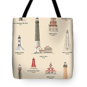 Lighthouses Of The Gulf Coast Tote Bag
