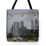 Lighting Work For The Singapore Formula One And A View Of The Helix Bridge Tote Bag