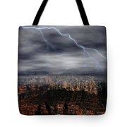 Lightning - North Rim Of Grand Canyon Tote Bag