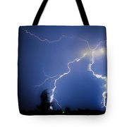 Lightning In Montrose Colorado Tote Bag