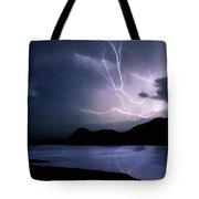 Lightning Over Quartz Mountains - Oklahoma Tote Bag