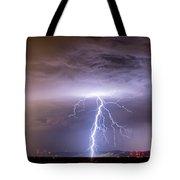 Lightning Strikes Following The Rain  Tote Bag