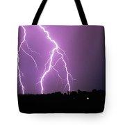 Lightning Striking During A Storm Tote Bag