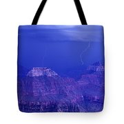 Lightning Strkes At The North Rim Grand Canyon National Park Tote Bag