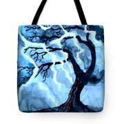Lightning Tree Tote Bag