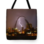 Lightning With The St Louis Arch Tote Bag