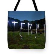 Lightpainting Image Spelling The Word Tote Bag