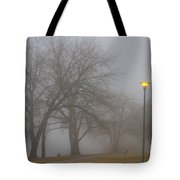 Lights And Fog Setting The Mood Tote Bag