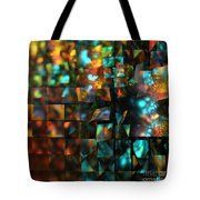 Lights And Fractures Tote Bag