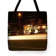 Lights At Night At Tgi Fridays Tote Bag