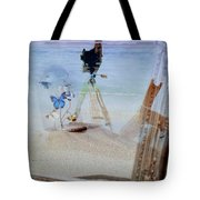 Lights Butterflies Sand And Surf Tote Bag