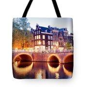 Lights Of Amsterdam Tote Bag