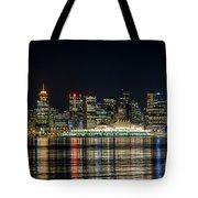Lights Of Vancouver Tote Bag