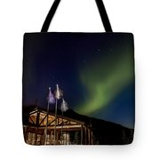 Lights Over Princess Denali Lodge Tote Bag