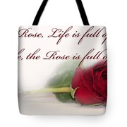 Like The Rose Tote Bag by Mechala  Matthews