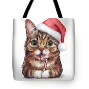 Cat Santa Christmas Animal Tote Bag
