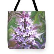 Lilac Abstract Tote Bag