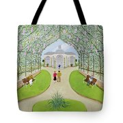 Lilac Arbour Oil On Board Tote Bag