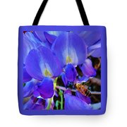 Lilac Blossom And Honey Bee Tote Bag