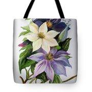 Lilac Clematis Tote Bag