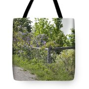 Lilac Fence I Tote Bag