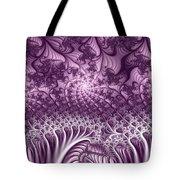 Lilac Fractal World Tote Bag
