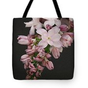 Lilac On Black Tote Bag