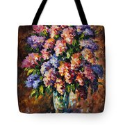 Lilac - Palette Knife Oil Painting On Canvas By Leonid Afremov Tote Bag