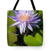 Lilac Water Lily Tote Bag