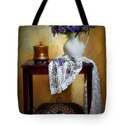 Lilacs And Lace Tote Bag