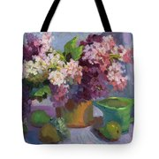 Lilacs And Pears Tote Bag