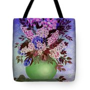 Lilacs And Queen Anne's Lace In Pink And Purple Tote Bag
