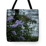 Lilacs By The River Tote Bag